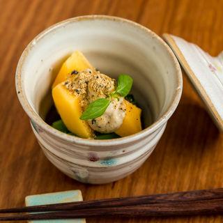 マンゴー きな粉アイス添え(日本酒餐昧うつつよ )
