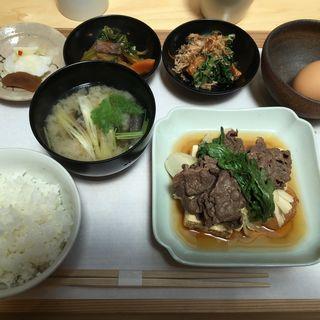 肉豆腐定食(竃)