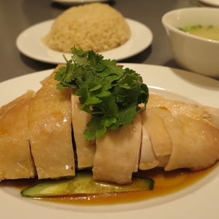 スチームチキンライス(威南記海南鶏飯 銀座EXITMELSA店 (Wee Nam Kee Chicken Rice/ウィーナムキーチキンライス))