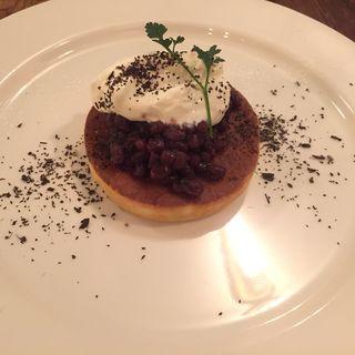北海道小豆とマスカルポーネクリームのパンケーキ(floyd)