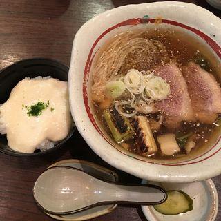 あんかけ蕎麦とミニとろろごはん(蕎麦見世のあみ (そばみせのあみ))