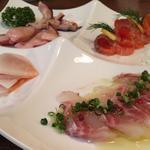 seafoodの燻製盛り合わせ