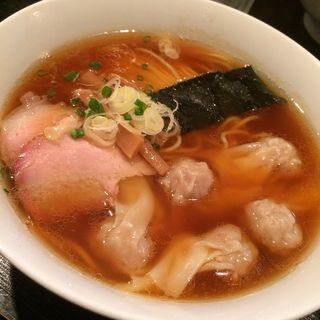 特製ワンタン麺(白だし)(支那そば 八雲 (しなそば やくも))