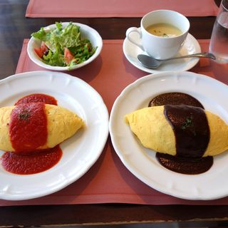 オムライスセット(厳選洋食さくらい)