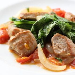 豚肉とトマトの炒め物(タヴェルナ グイダ (TAVERNA GUIDA))