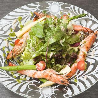 海老のグリル 野菜仕立て(日本料理 「さくら」 ヒルトン東京お台場 )