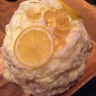 ハチミツレモンのカキ氷
