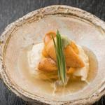 雲丹の卵豆腐