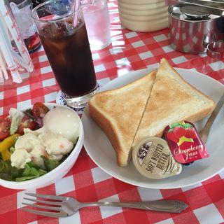 トースト モーニングセット(ふくてい 茅場町店 )