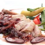 豚肉のグリル スルメイカのソース