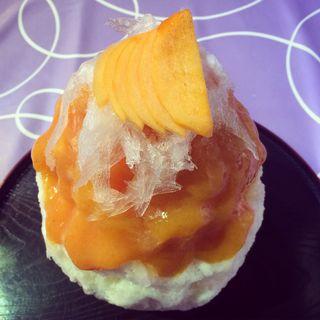 富有柿とクリームチーズ(雪うさぎ )