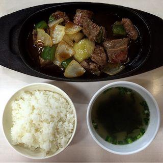 牛ロースチョップドステーキ(道頓堀 )