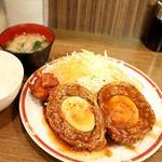 スコッチエッグ定食(キッチン大正軒)