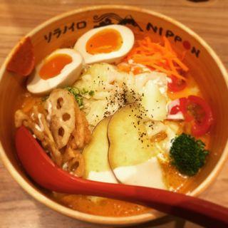 大盛(ベジソバ、担麺、角煮塩)(ソラノイロ ニッポン (ソラノイロ NIPPON))