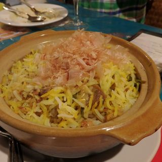 納豆と牡蠣のビリヤニ(ガラムマサラ)