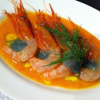 甘エビのカルパッチョ(ラバルカ (La Barca))