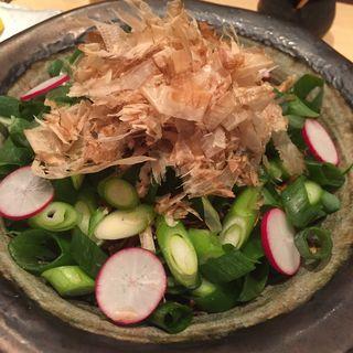 九条ねぎと牛蒡のサラダ(やきとり鶏慶 (ヤキトリトリケイ))