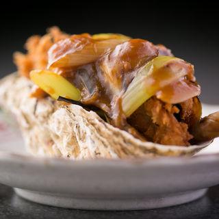 牡蠣のあんかけソース(たつかわ )