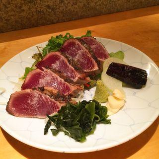 炭火焼鰹塩たたき(土佐料理 祢保希 丸の内店 (ねぼけ))