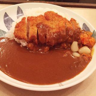 トンカツ(上ロース)カレー(カレーの店 インデラ )