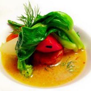 トマトとチンゲン菜のソテー(オ・モン (Eau Mont))