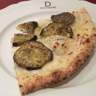 米ナスとスモークチーズのピッツァ(PAPA DAVIDE)