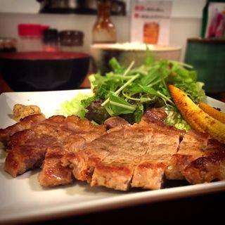 カムイ豚ステーキ(ごはん )