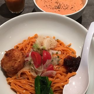 ビーガントマトクリームつけメン(ソラノイロ (ソラノイロ japanese soup noodle free style))