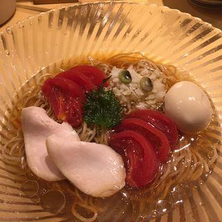 冷やしトマトそば 味玉(季節の限定そば)(饗 くろ喜 (もてなし くろき/饗 くろ㐂))