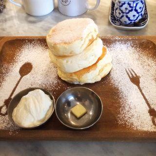 プレーンパンケーキふわふわ(Micasadeco&Cafe )