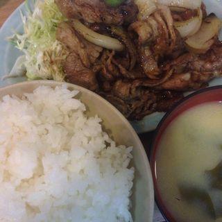 牛カルビ焼定食(かんだ食堂 (かんだしょくどう))