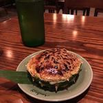 タイ屋台のパイナップルブリュレ