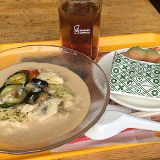 豆乳冷麺セット(ミスタードーナツ 北巽ショップ (mister Donut))