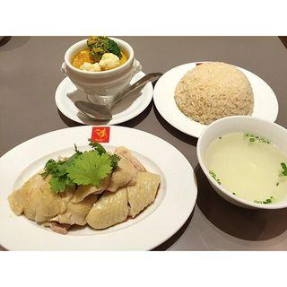 スチームチキンライス+ミニカレー(威南記海南鶏飯 銀座EXITMELSA店 (Wee Nam Kee Chicken Rice/ウィーナムキーチキンライス))