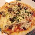 キノコのピザ
