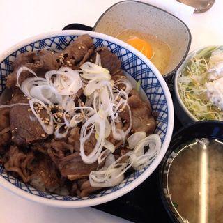 牛カルビ丼特盛りAセット(吉野家 守山松川橋店 )