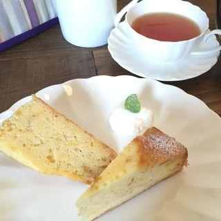 ゆずケーキセット(テクテク紅茶や )