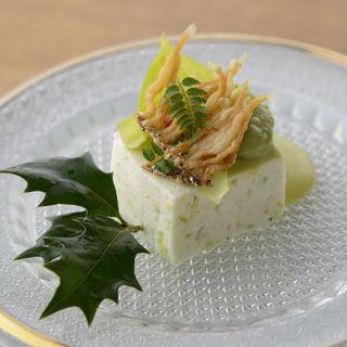 シラスの素揚げ 豆腐(井ざわ )