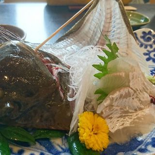 浜名湖のカレイの刺身(浜菜坊 )