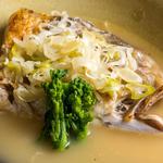 鮮魚のかぶと煮