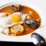 ムール貝とホタテのカレー