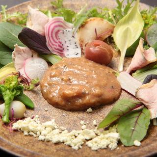 グリル野菜と麹味噌(一穀一枝 (いちごいちえ))