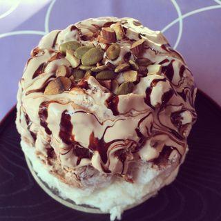 ショコラクリームとナッツ(雪うさぎ )