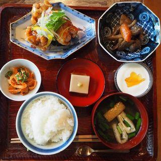 チキンの甘酢あんかけセット(cafe 清ら (カフェキヨラ))