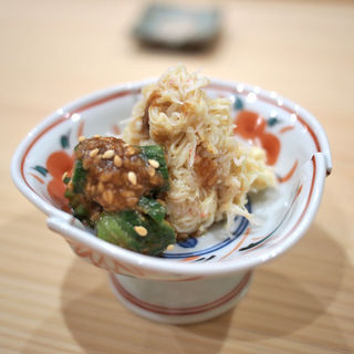 カニの味噌和え(鮨 たかはし)