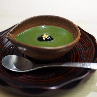 抹茶プリン(鮨 銀座 おのでら)