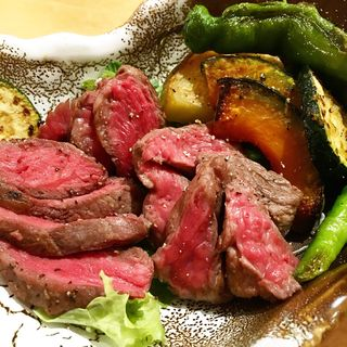 黒毛和牛ランプステーキ定食(ほいっぽ )