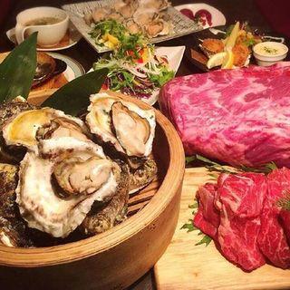 牡蠣&牛ステーキ食べ放題(シーフードバル)