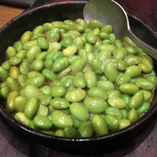 剥き枝豆のバター醤油炒め