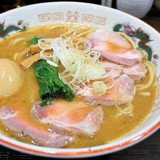 特製濃厚魚介とんこつらーめん+チャーシュー増量(製麺処 蔵木 )